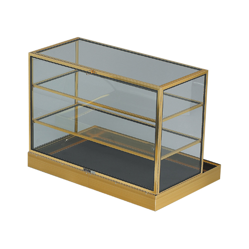 Portable Exhibition Display Cases : Portable shelved display case quot w l h trio