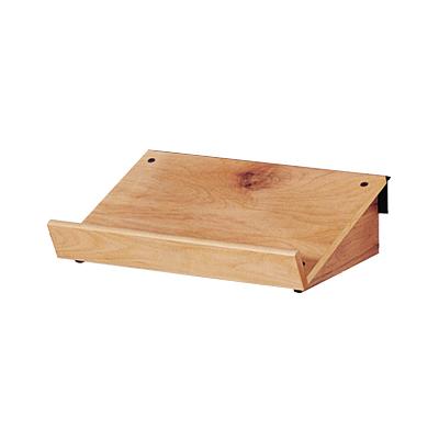 Wooden Slanted Slatwall Shelf Trio Display