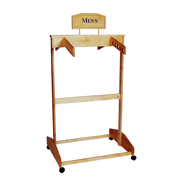trio wood clothing racks cr30 wfcr waterfall wooden clothing rack cr30