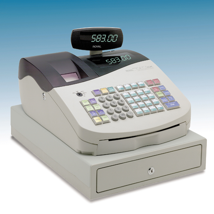 Deluxe Toy Cash Register : Royal cx deluxe alpha cash register trio display