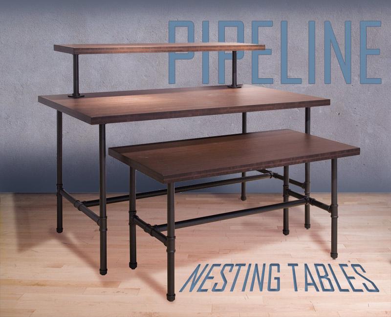 Nesting tables trio display