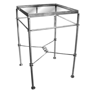 Small Display Table With Glass Top : [Raw Steel] Click To Enlarge