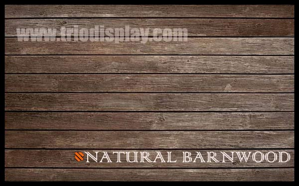Natural Barnwood Textured Slatwall Trio Display