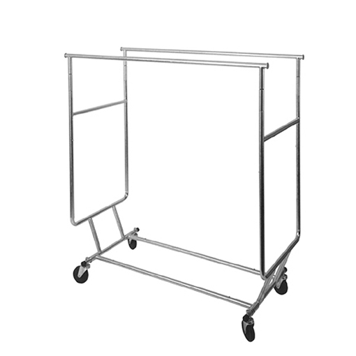 collapsible double round tubing rack trio display